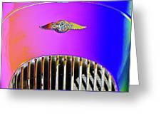 Psychedelic Morgan 4/4 Badge And Radiator Greeting Card