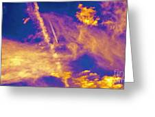 Psychedelic Skys Greeting Card