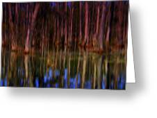 Psychedelic Swamp Trees Greeting Card