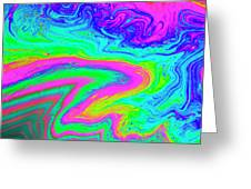 Psychedelic Swirl Greeting Card