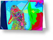 Psychedelic Violinist Greeting Card