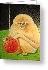 Psychic Monkey Greeting Card
