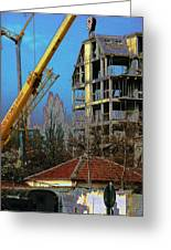Psycho Plovdiv Crane Greeting Card