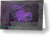 Psycho Warhol Deep Purple Greeting Card