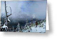 Ptarmigan Trail Overlooking Elizabeth Lake 2 - Glacier National Park Greeting Card