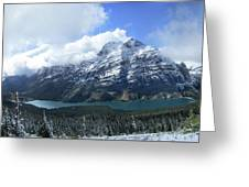 Ptarmigan Trail Overlooking Elizabeth Lake 5 - Glacier National Park Greeting Card
