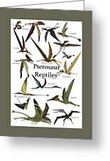 Pterosaur Reptiles Greeting Card
