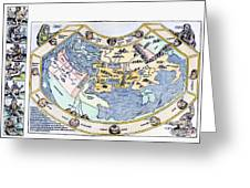 Ptolemaic World Map, 1493 Greeting Card
