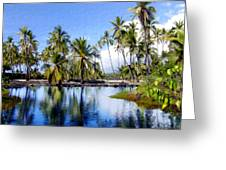 Pu Uhonua O Honaunau Pond Greeting Card