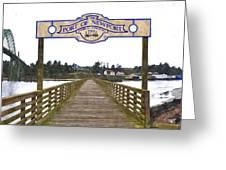 Public Fishing Pier Greeting Card