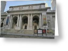 Public Library New York City Greeting Card