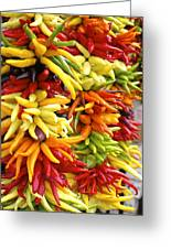Public Market Peppers Greeting Card