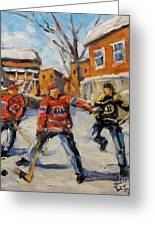 Puck Control Hockey Kids Created By Prankearts Greeting Card