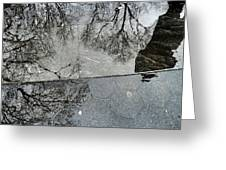 Puddle Reflection Greeting Card