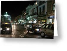 Puebla At Night 1 Greeting Card
