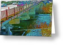 Pueblo Downtown--4th Street Bridge Greeting Card