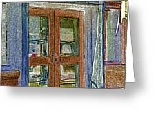 Pueblo Downtown--thatcher Building Door Greeting Card
