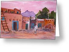 Pueblo In Pink Greeting Card