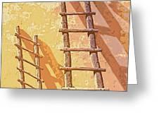 Pueblo Ladders Greeting Card