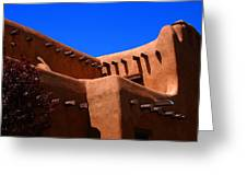 Pueblo Revival Style Architecture In Santa Fe Greeting Card