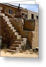 Pueblo Stairway Greeting Card