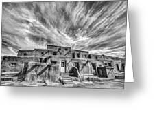 Pueblo Storm Clouds Greeting Card