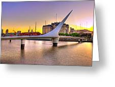 Puente La Mujer Greeting Card
