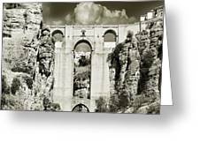 Puente Nuevo Tajo De Ronda Andalucia Spain Europe Greeting Card