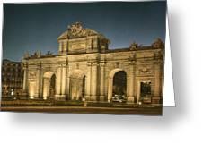 Puerta De Alcala Night Greeting Card