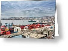 Puerto De Valparaiso Greeting Card