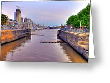 Puerto Madero Canal Greeting Card