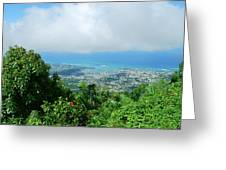 Puerto Plata Mountain View Of The Sea Greeting Card