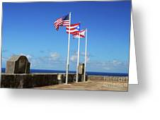 Puerto Rican Flags Greeting Card
