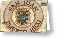 Puerto Rico Coat Of Arms Greeting Card