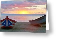 Puerto Rico Sunset On The Beach Greeting Card