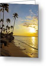 Puerto Rico Sunset Greeting Card