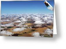 Puffy Clouds  3772 Greeting Card