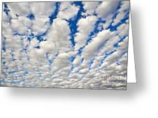 Puffy Clouds And Blue Sky Greeting Card