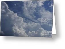 Puffy Clouds II Greeting Card