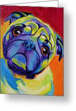 Pug - Lyle Greeting Card by Alicia VanNoy Call