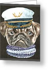 55e878b2548 Pug Captain Hat Scarf Dogs In Clothes Digital Art by Trisha Vroom
