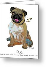 Pug Pop Art Greeting Card