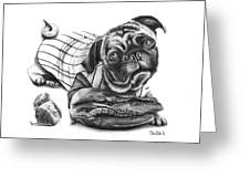Pug Ruth  Greeting Card by Peter Piatt
