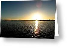 Puget Sound Sunset 3 Greeting Card