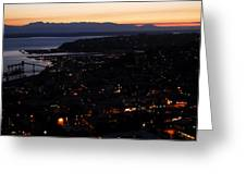 Puget Sound Sunset Greeting Card