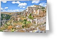 Puglia Canvas Church Hermitage Pulsano - Monte Sant Angelo - Foggia - Gargano Greeting Card
