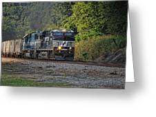 Pulling Coal Greeting Card