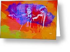 Pulp Fiction 2 Greeting Card by Naxart Studio
