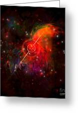 Pulsar Greeting Card by Corey Ford