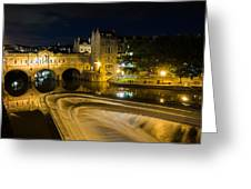 Pulteney Bridge At Night Greeting Card